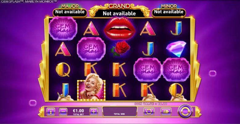Slot Gem Splash: Marilyn Monroe