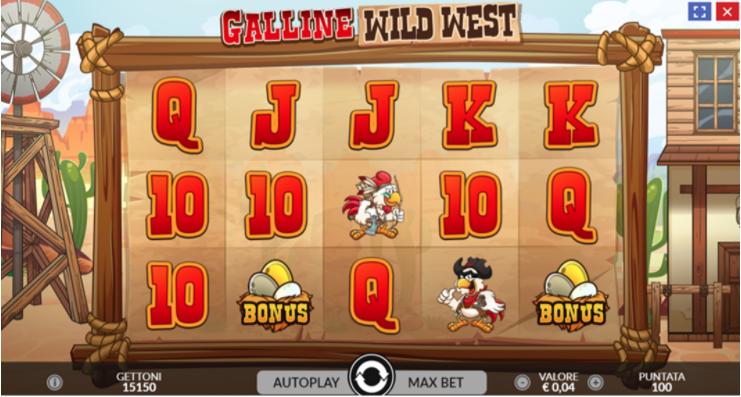 slot Galline wild west